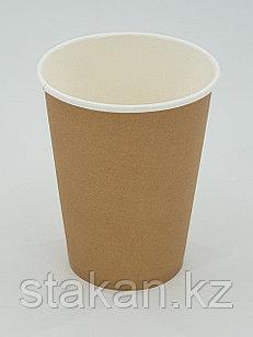 Бумажный стакан, 350мл, крафт, однослойный