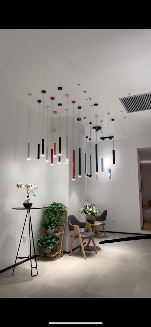 Одиночный подвесной светильник черный 30 см