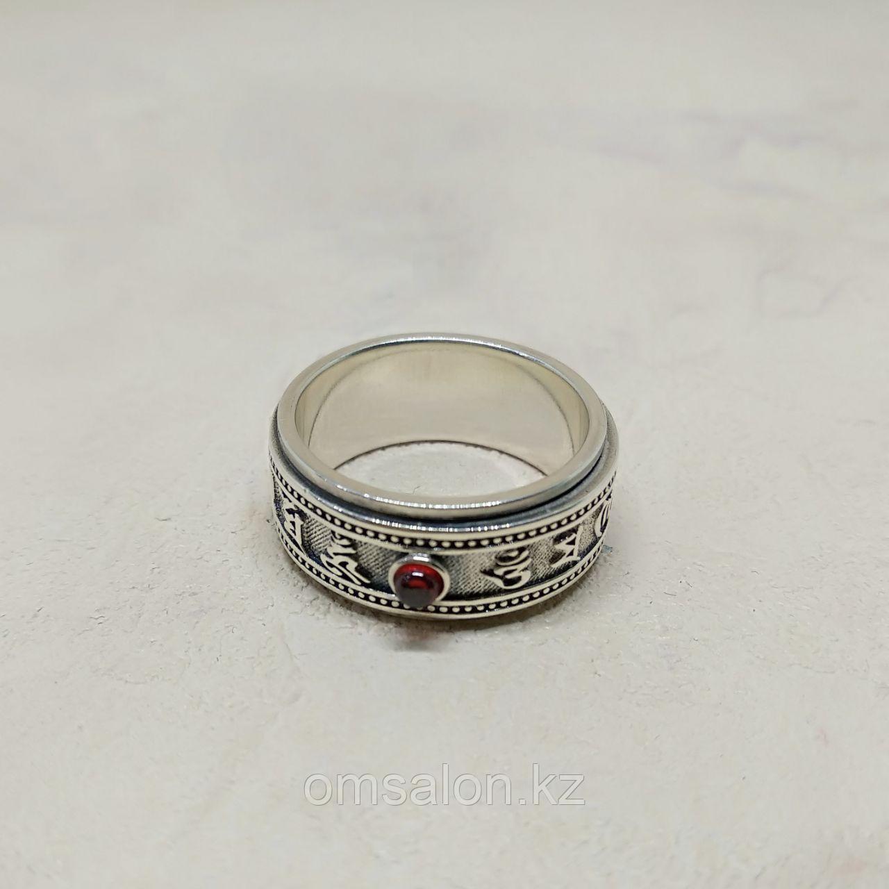 Кольцо Ом Мани Падме Хум, двойное, серебро 925