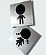 Таблички на туалет. Серебристые, золотистые, белые, фото 3