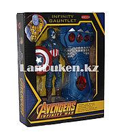 Набор Мстители (Avengers) фигурка героя (Капитан Америка) и Перчатка Бесконечности