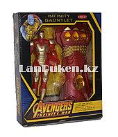 Набор Мстители (Avengers) фигурка героя (Железный Человек) и Перчатка бесконечности