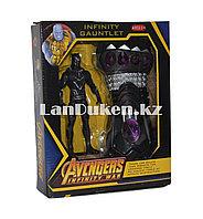 Набор Мстители (Avengers) фигурка героя (Черная Пантера) и Перчатка бесконечности, фото 1