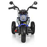 Электромотоцикл детский с надувными колесами BQ-8188, синий, фото 3