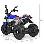Электромотоцикл детский с надувными колесами BQ-8188, синий, фото 4