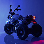 Электромотоцикл детский с надувными колесами BQ-8188, синий, фото 5