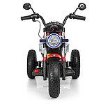 Электромотоцикл детский с надувными колесами BQ-8188, красный, фото 2