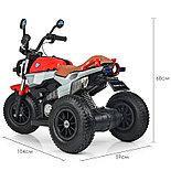 Электромотоцикл детский с надувными колесами BQ-8188, красный, фото 4