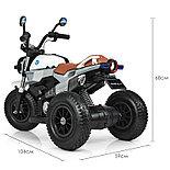 Электромотоцикл детский с надувными колесами BQ 8188, белый, фото 4