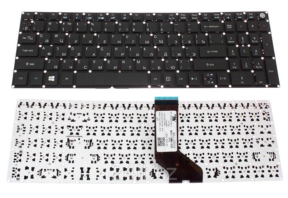 Клавиатура для ноутбука Acer Aspire E5-522 E5-522G E5-573 E5-573G, RU, без рамки, черная