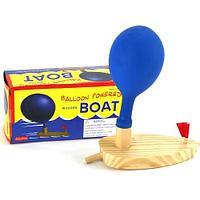 Лодка деревянная с воздушным шаром