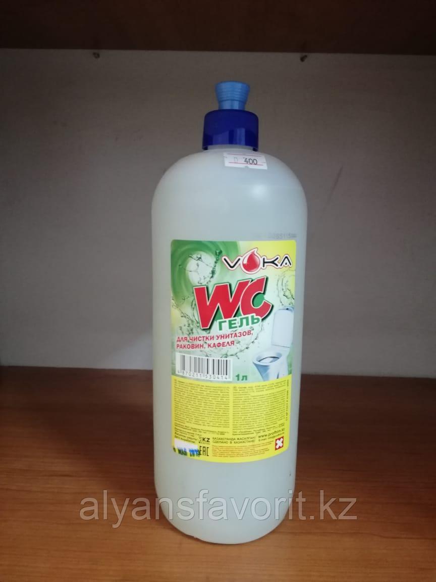 WC-ГЕЛЬ - средство для мытья унитазов и сантехники. 1 литр. РК