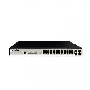 Управляемый сетевой  PoE+ коммутатор Panda на 28 портов SWPC-GE2404.sfp