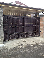 Кованые ворота откатные