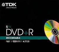 Диски TDK DVD+R 4,7Gb