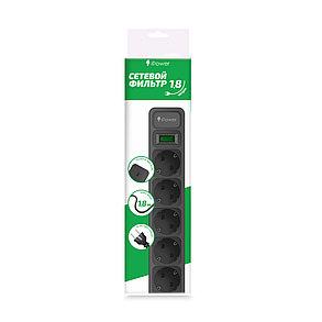Сетевой фильтр iPower iPEO5S 1.8 м., фото 2