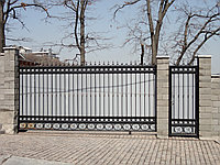 Ворота откатные в коттедж