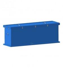 Герметичный контейнер для сбора, хранения, транспортировки на утилизацию ртутных люминесцентных ламп 1550х600х400мм 3 секции