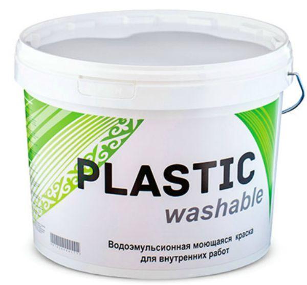 Краска водоэмульсионная Plastic WASHABLE 5 кг