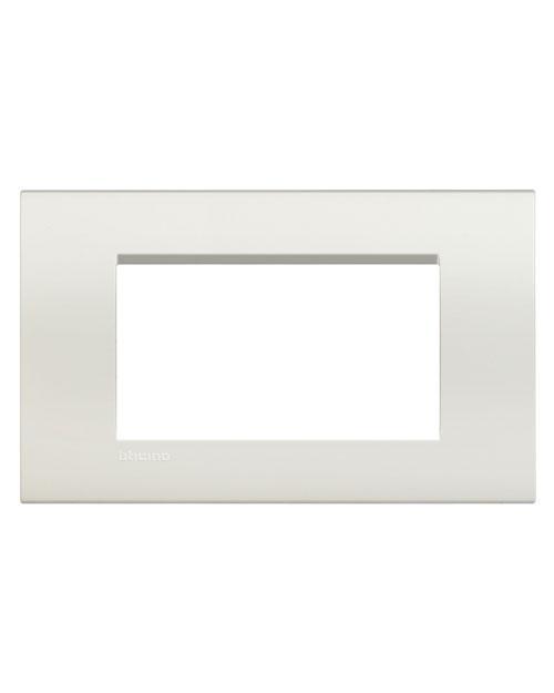 LivingLight Рамка прямоугольная  4 модуля  цвет Белый