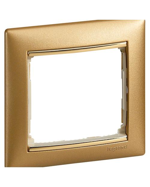 Рамка Legrand 770301 1п мат золото VLN legrand-770301