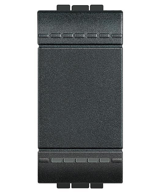 Legrand L4005A LivingLight Кнопка с автоматическими клемами  размер 1 модуль  цвет антрацит