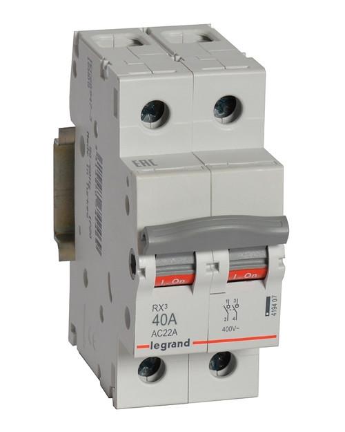 Выключатель-разъединитель Legrand  2п  40А  RX3  419407