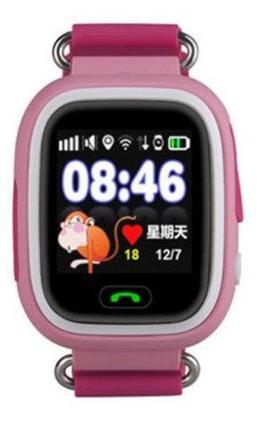 Умные часы детские Q80 1.44 с сенсорным дисплеем и GPS-маяком (Розовый), фото 2