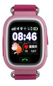 Умные часы детские Q80 1.44 с сенсорным дисплеем и GPS-маяком (Розовый)