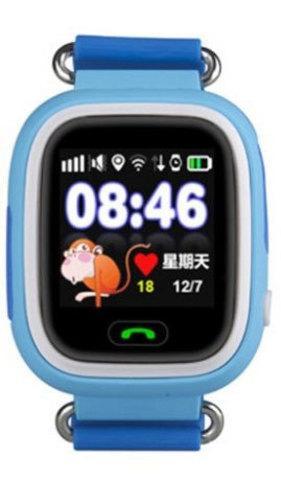 Умные часы детские Q80 1.44 с сенсорным дисплеем и GPS-маяком (Голубой)