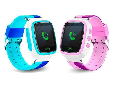 Умные часы детские Q80 1.44 с сенсорным дисплеем и GPS-маяком (Голубой), фото 2