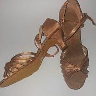 Туфли для бальных танцев, бежевые ( взрослые). Размер: 35-41 35