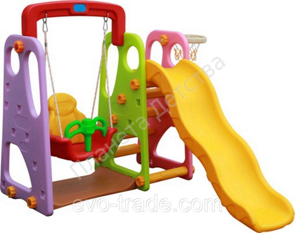 Детский игровой комплекс (горка с качелями) 05021