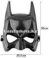 Маска на пол лица Бэтмен Batman, черная