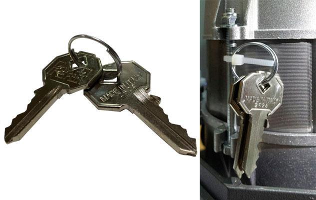 Ключи для разблокировки привода