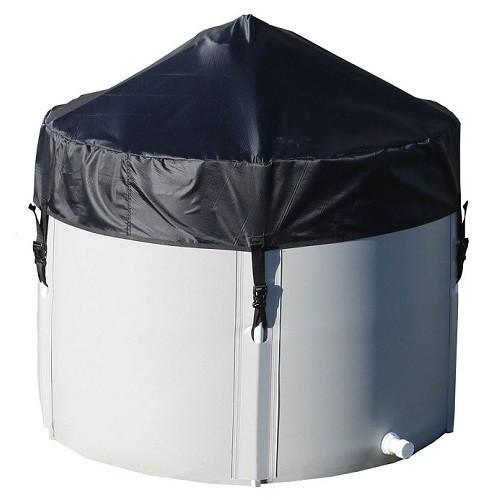 Бочка для воды из ПВХ 1000 л., 70 см. (базовая+каркас+крышка)
