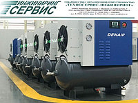 Двухвинтовой энергосберегающий маслозаполненный воздушный компрессор Denair DA-250W+