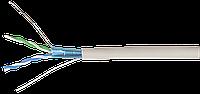 ITK Кабель связи витая пара F/UTP, кат.5E 2х2х24AWG solid, PVC, 500м, серый