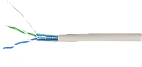 ITK Кабель связи витая пара F/UTP, кат.5E 2х2х24AWG solid, LSZH, 500м, серый