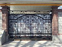 Ворота откатные в дом