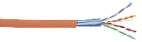 ITK Кабель связи витая пара F/UTP, кат.5E 4x2х24AWG solid, LSZH, 305м, оранжевый