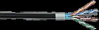 ITK Каб. в. п. F/UTP кат. 5E 4х2х24AWG solid LSZH/LDPE чер.