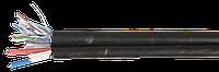 Кабель связи витая пара F/UTP кат.5Е 4 пары 24 AWG solid LDPE + кабель питания 2x0,75мм2 305м черный