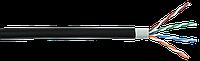 ITK Кабель связи витая пара U/UTP кат.5E 4х2х24AWG solid LSZH/LDPE черный