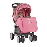 Коляска прогулочная Lorelli Bertoni Foxy + накидка на ножки Бежево-розовый / Biege&Pink Girl 1834, фото 2