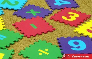 Коврик-пазл детский «Математика» 25*25 (см), фото 2