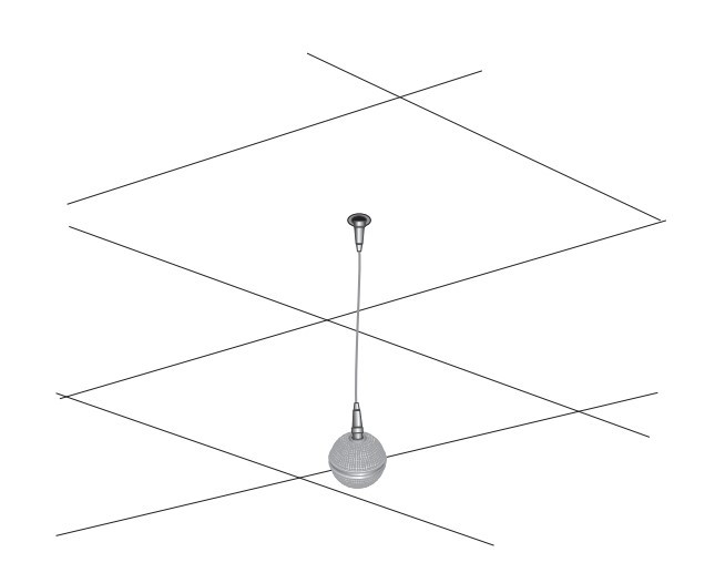 Poly IP Ceiling Microphone Array-White