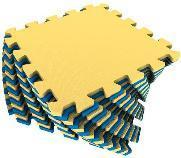 Мягкий пол универсальный 25*25 (см) желто-синий, фото 2