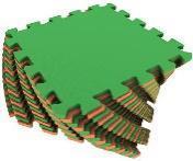 Мягкий пол универсальный 25*25 (см) оранжево-зеленый