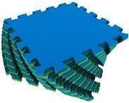 Мягкий пол универсальный 25*25 (см) сине-зеленый